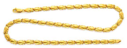 Foto 1, Phantasie Designer Gold Kette, 18K/750 Gelb Gold Luxus!, K2106