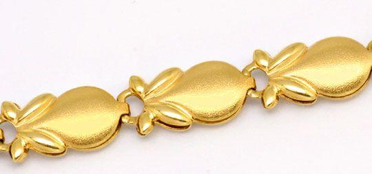 Foto 2, Phantasie Designer Gold Kette, 18K/750 Gelb Gold Luxus!, K2106