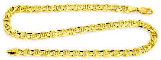 Foto 1, Aufwendige massive Stegpanzer Goldkette Gelbgold Luxus!, K2109