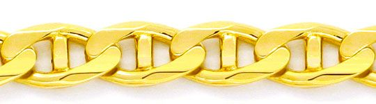 Foto 2, Aufwendige massive Stegpanzer Goldkette Gelbgold Luxus!, K2109