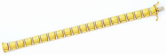 Foto 1, Designer Gold Armband Gelbgold Weissgold 14K/585 Luxus!, K2110