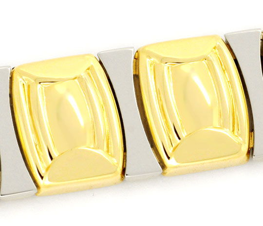 Foto 2, Designer Gold-Armband Gelbgold Weissgold 14K/585 Luxus!, K2110