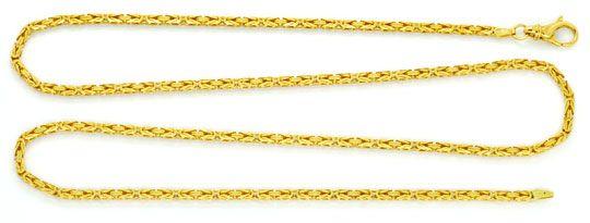 Foto 1, Königskette massive Goldkette Gelbgold 18K, 61cm Luxus!, K2111