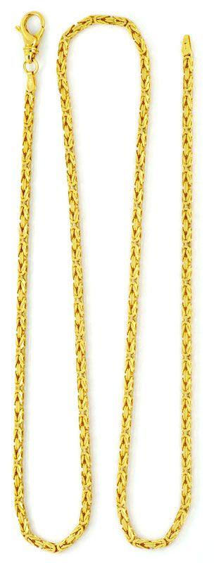 Foto 3, Königskette massive Goldkette Gelbgold 18K, 61cm Luxus!, K2111