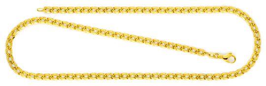 Foto 1, Doppel Flachpanzer Goldkette massiv Gelbgold 14K Luxus!, K2114