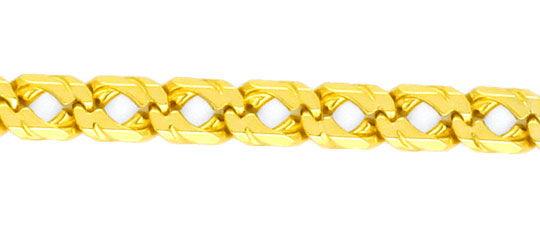 Foto 2, Doppel Flachpanzer Goldkette massiv Gelbgold 14K Luxus!, K2114