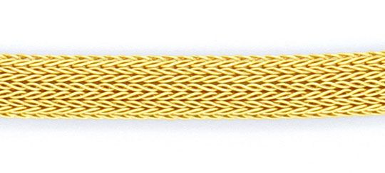 Foto 2, Goldkollier Goldkette Strumpf Muster Oval Gelbgold Shop, K2117