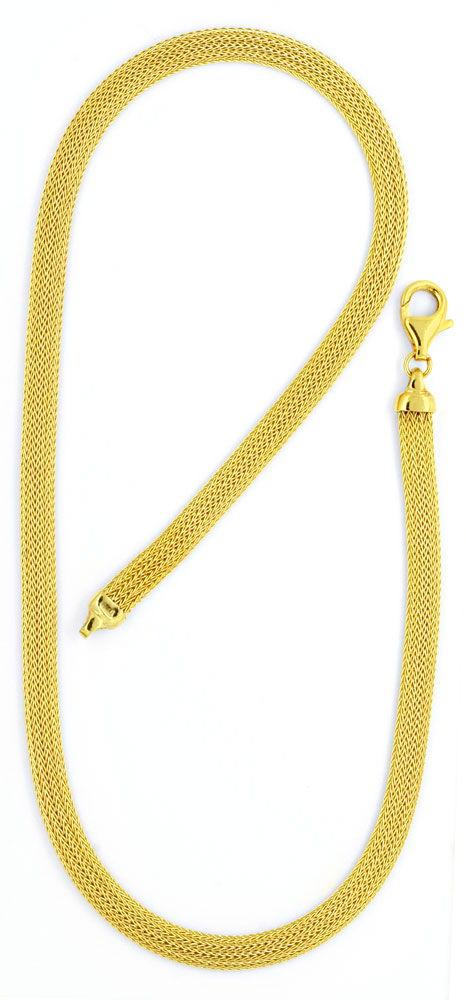Foto 3, Goldkollier Goldkette Strumpf Muster Oval Gelbgold Shop, K2117