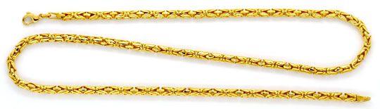 Foto 1, Königskette Goldkette, massives Gelbgold 18K/750 Luxus!, K2118