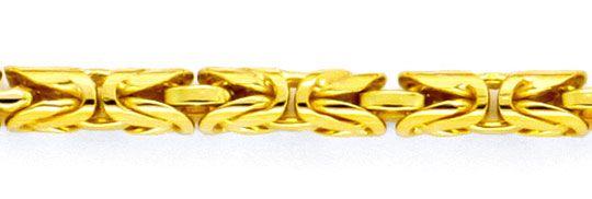 Goldkette königskette  Königskette Goldkette, massives Gelbgold 18K/750 Luxus!, K2118