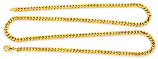 Foto 1, Set Goldkette und Goldarmband massiv Flachpanzer Luxus!, K2119
