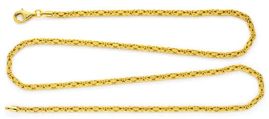 Foto 1, Königs-Kette Gold-Kette massiv 14K/585 Gelb-Gold Luxus!, K2120