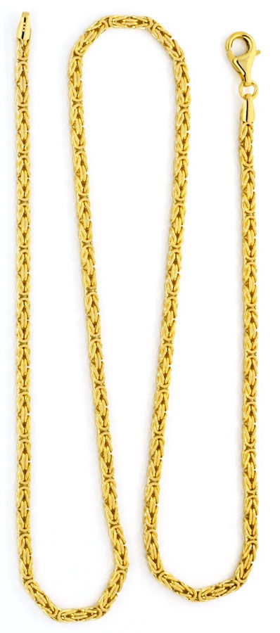 Foto 3, Königs-Kette Gold-Kette massiv 14K/585 Gelb-Gold Luxus!, K2120