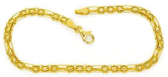 Foto 1, Goldkette und Goldarmband Doppel Anker Figaro Shop Neu!, K2121
