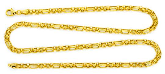 Foto 2, Goldkette und Goldarmband Doppel Anker Figaro Shop Neu!, K2121