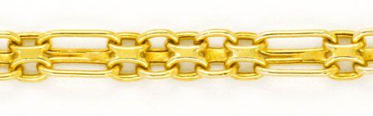 Foto 3, Goldkette und Goldarmband Doppel Anker Figaro Shop Neu!, K2121