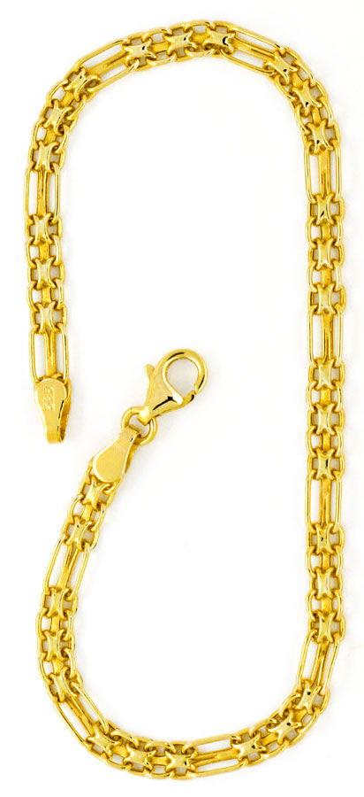 Foto 4, Goldkette und Goldarmband Doppel Anker Figaro Shop Neu!, K2121