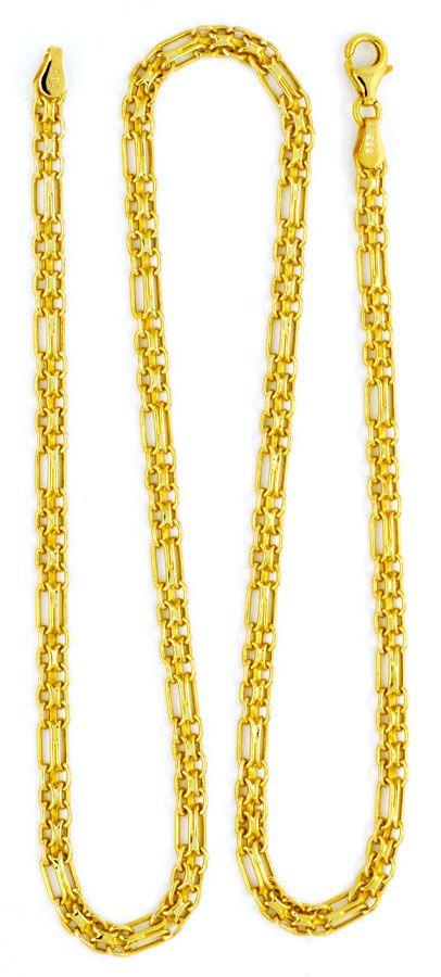 Foto 5, Goldkette und Goldarmband Doppel Anker Figaro Shop Neu!, K2121