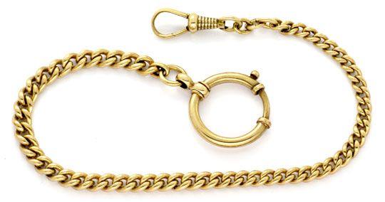 Foto 1, antike Uhrkette, Taschenuhrenkette, Gold Rötlich Luxus!, K2124