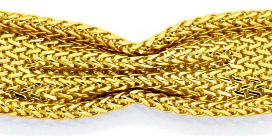 Foto 2, Goldarmband massiv 18K/750 Geflochten Faltenwurf Luxus!, K2125