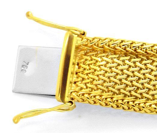 Foto 3, Goldarmband massiv 18K/750 Geflochten Faltenwurf Luxus!, K2125