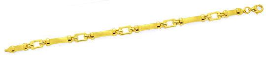 Foto 1, Goldarmband massiv gewölbte Gelbgold Platten Luxus! Neu, K2126