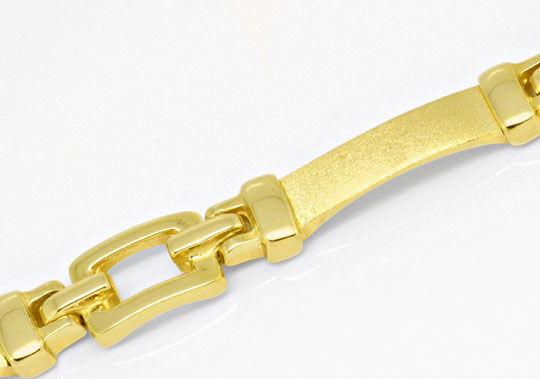 Foto 2, Goldarmband massiv gewölbte Gelbgold Platten Luxus! Neu, K2126