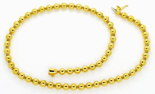 Foto 1, Designer Kugelkette, Goldkette Gold-Kugeln, 750, Luxus!, K2127