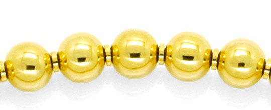 Foto 2, Designer Kugelkette, Goldkette Gold-Kugeln, 750, Luxus!, K2127