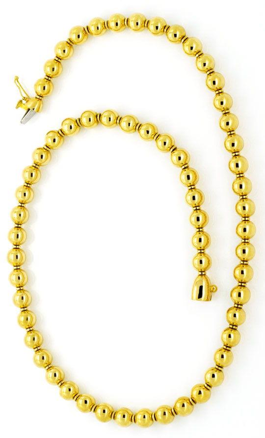 Foto 3 - Designer Kugelkette, Goldkette Gold Kugeln, 750, Luxus!, K2127