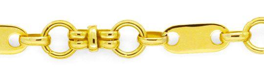 Foto 2, Designer Gold-Kette Plättchen Ösen Doppel-Achter Luxus!, K2129