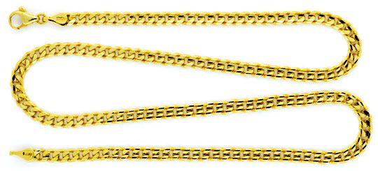 Foto 1 - Massive Flachpanzer Goldkette 6 Fach Diamantiert Luxus!, K2131