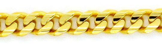 Foto 2 - Massive Flachpanzer Goldkette 6 Fach Diamantiert Luxus!, K2131