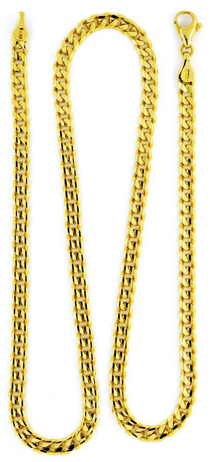 Foto 3, Massive Flachpanzer Goldkette 6-Fach Diamantiert Luxus!, K2131