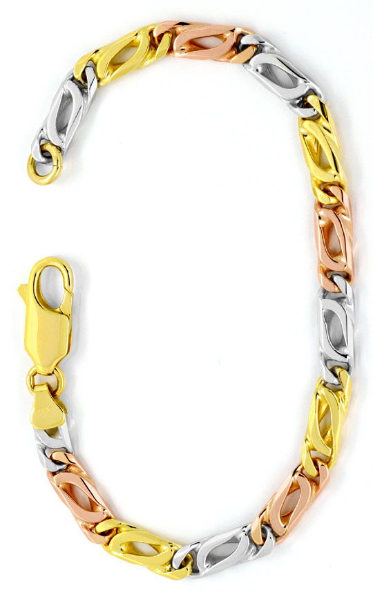 Foto 2, Armband Pfauenauge Gelb-Gold Weiss-Gold Rot-Gold Luxus!, K2132