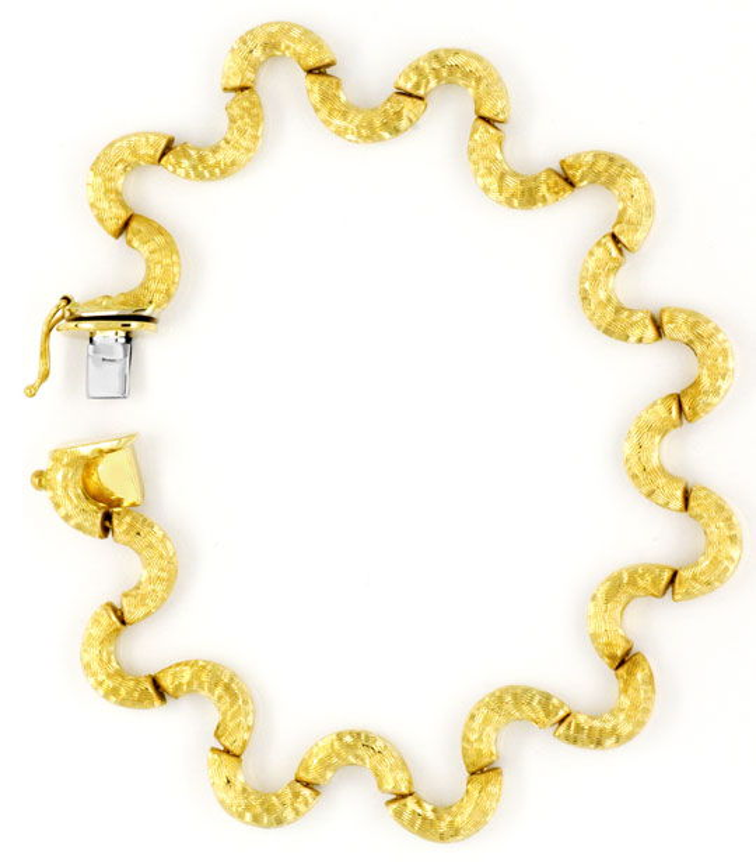 Foto 4, Designer Set Goldkollier Goldarmband Halb-Kreise in 14K, K2133