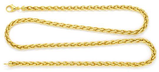 Foto 1, Massive Zopf-Kette Goldkette massiv 18K Gelbgold Luxus!, K2134