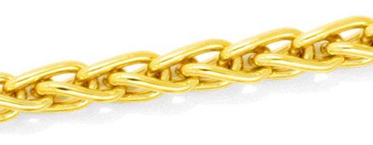 Foto 2 - Massive Zopf Kette Goldkette massiv 18K Gelbgold Luxus!, K2134