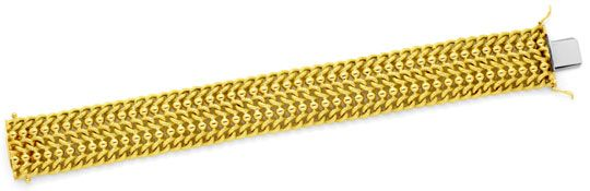 Foto 1, Goldarmband 18K Gelbgold Rund-Panzer Gold-Kugeln Luxus!, K2139