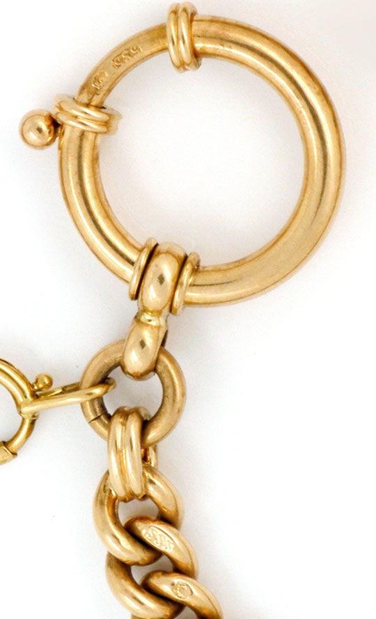 Foto 3, Gold Uhrkette Rubin Safir Diamant Perl Medaillon Luxus!, K2142