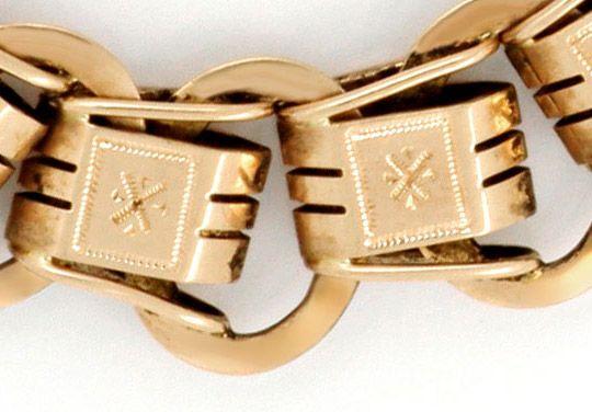 Foto 2 - Rotgold Taschenuhrkette im Verlauf schön graviert antik, K2143