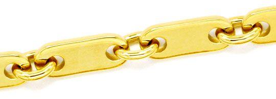 Foto 2 - Plaettchen Kette, Goldkette massiv Gelbgold 585, Luxus!, K2147
