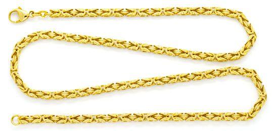 Foto 1, Massive Königskette 18K Gelbgold, 50cm Goldkette Luxus!, K2148