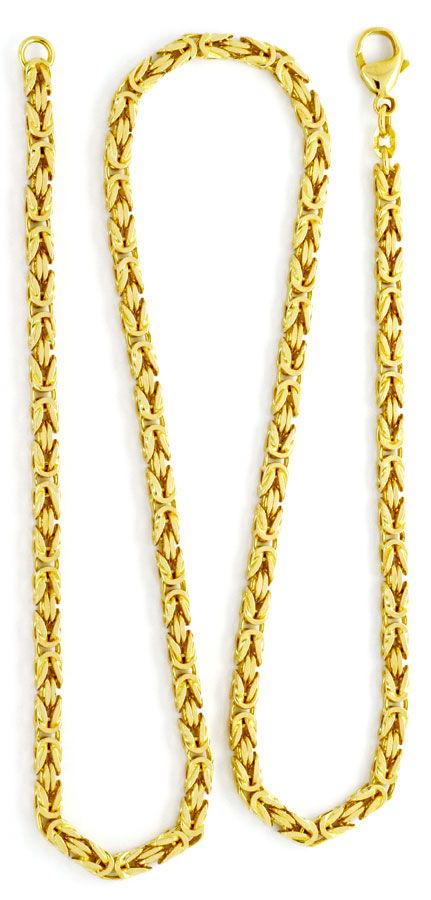 Foto 3, Massive Königskette 18K Gelbgold, 50cm Goldkette Luxus!, K2148