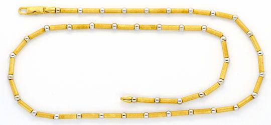 Foto 1, Designer Gold-Kette Kugeln Röllchen Graviert 750 Luxus!, K2149