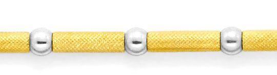 Foto 2, Designer Gold-Kette Kugeln Röllchen Graviert 750 Luxus!, K2149