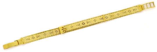 Foto 1, Antikes Flecht-Gelbgoldarmband Längenverstellbar Luxus!, K2151