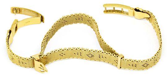 Foto 2, Antikes Flecht-Gelbgoldarmband Längenverstellbar Luxus!, K2151