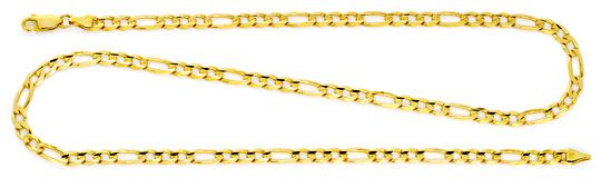 Foto 1, Massive Figaro-Flachpanzergoldkette Gelbgold 14K Luxus!, K2153