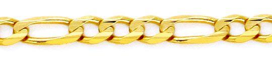 Foto 2, Massive Figaro-Flachpanzergoldkette Gelbgold 14K Luxus!, K2153